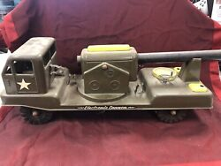 Vintage Nylint 2400 Electronic Cannon Pressed Steel Military Truck L🚛🚛k 🔥🔥