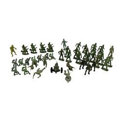 Marx Timmee Mpc Green Plastic Army Men Vtg Lot Of 47 Mixed Soldiers Toy Figures
