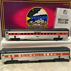 Mth New Haven 70' Abs -two Coaches Streamlined-ribbed 20-2197-b In Box