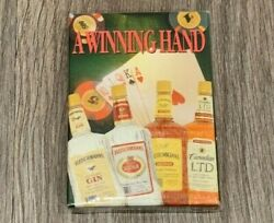 A Winning Hand, Fleishmanns Gin,vodka,whiskey, Playing Cards Unopened