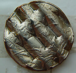 Very Rare - 2008 Commemorative 50 Cent - Bald Eagle Waffled Coins - Lot T129