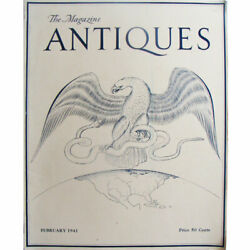 The Magazine Antiques February 1941, Art, Furniture, China, See Desc For Index