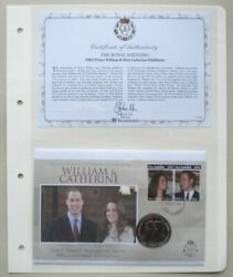 2011 William And Catherine The Royal Wedding 1 Crown Commemorative Coin Cover Pnc