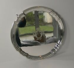 Quality Antique English Silver Plated Salver / Cocktail Tray C.1915