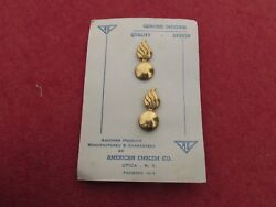 Us Army Ordnance Collar Insignia Officer Original Card Matched Pair Ae Co Cb