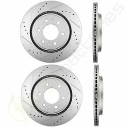 Drill And Slotted Front And Rear Brake Rotors Discs Fits 2015-2017 Ford F-150
