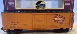 ✅mth Premier Milwaukee Road 40andrsquo Steel Side Reefer Car 20-94057 O Scale Train