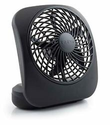 O2cool 5andquot Portable Fan Battery Powered 1 Unit Grey