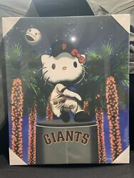 Hello Kitty Sf Giants Canvas Poster Super Rare Brand New. Fast Ship
