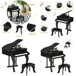 Kids Classic Wooden Piano Bench Children Musical Instrument Toy Home Indoor Use