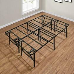 Queen King Full Twin Size Bed Frame 18 In Folding Platform Mattress Foundation