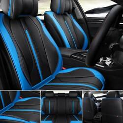 Full Set Universal 5-sit Car Seat Covers Pu Leather Auto Cushion Protector Pad