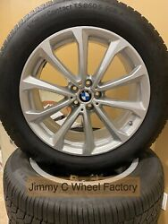 Oe Bmw X7 Wheels Silver W/ Tires Sensors And Center Caps 86530 New Take Offs