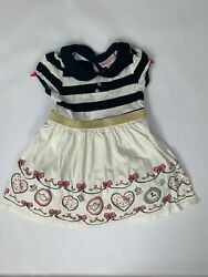 Hello Kitty Storybook Collection Alice In Wonderland Tea Party Dress 3t Rare Htf