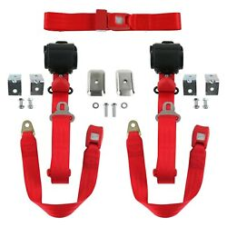For Chevy Chevelle 68-72 3-point Standard Buckle Retractable Bench Seat Belts