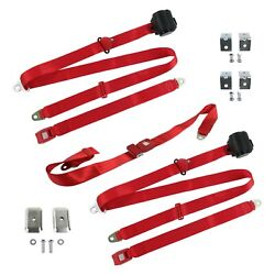 For Jeep Comanche 86-92 3-point Standard Buckle Retractable Bench Seat Belts
