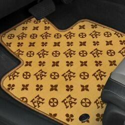 For Ram 3500 11-12 Fashion Auto Mat Carpeted 1st And 2nd Row Terracotta Floor Mats