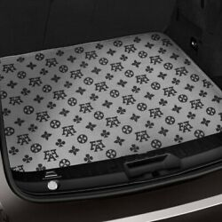 For Toyota Camry 92-96 Fashion Auto Mat Carpeted Black/gray Back Bench Cover Mat