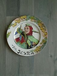 Antique Royal Doulton Plate The Jester