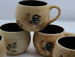 Vtg Pennsbury Pottery Red Rooster Tea/coffee Cup Sold As Replacement- Lot Of 5