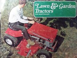Massey Ferguson Mf 10 12 7 Lawn Garden Tractor And Implements Color Sales Brochure