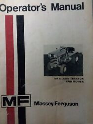 Massey Ferguson Mf 8 Hydro And Gear Lawn Tractor And Mower Deck Owners Manual Hp