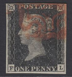 Sg 3 1d Grey-black Plate 10 Lettered Fl. Very Fine Used With A Part Red...