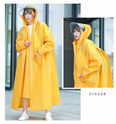 Outdoors Activity Rain Cover Wear Coats With Hood For Adults With Double Closure
