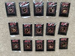 Rare Exclusive 2010 Topps Ufc Poker Chip Lot Set Of 15