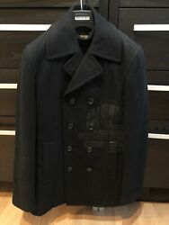 Comme Des Garcons Homme Plus Black Wool Trench Coat Size M Time For Magic