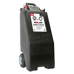 Solar 12 V Wheeled Commercial Battery Charger And Engine Starter W Air Compressor