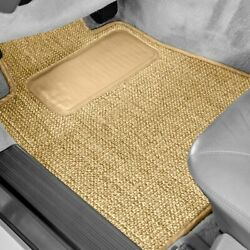 For Ford 1/2 Ton Pickup 35-39 Sisal Auto Mat Carpeted 1st Row Tan Floor Mats