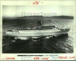 1984 Press Photo The Sagafjord Sailed Into The New Orleans Port For World's Fair