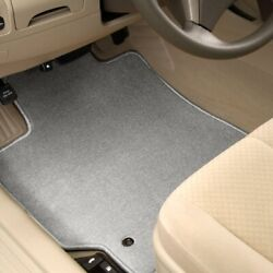 For Hyundai Accent 18-20 Carpeted 1st And 2nd Row Light Gray Floor Mats