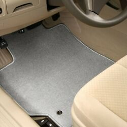 For Toyota Prius Plug-in 12-15 Carpeted 1st And 2nd Row Light Gray Floor Mats