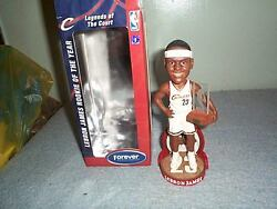 Lebron James Rookie Of The Year Bobblehead Mint In Mint Box Rare White 2004 Made