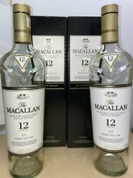 12 Years 700 Ml 2 Sets - Macallan Empty Bottle Scotch Whiskey From Japan 20