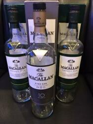 Set Of 3 With Box - Macallan Empty Bottle Scotch Whiskey From Japan 26