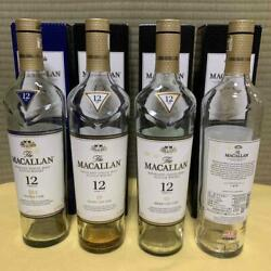 12 Years 4 Set - Macallan Empty Bottle Scotch Whiskey From Japan 29