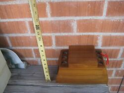 Vintage 6 Pipe Fairfax Wood Tobacco Pipe Rack Stand Holder Box Humidor Usa