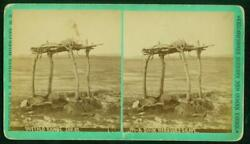 A005, L.a. Huffman Stereoview, 194, A Sioux Warriors Grave, C.1880's