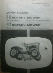 John Deere 110 Round Fender Lawn Garden Tractor And Mower Owner And Parts 2 Manuals