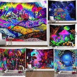 Trippy Psychedelic Mushroom Tapestry Background Wall Hanging Hippie Home Decor
