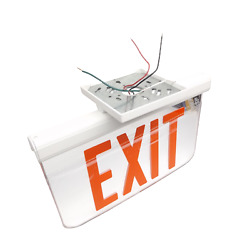 Dual-lite/hubbell Lescdrxwa Edge-lit Led Exit Sign Ac Only Mirror Background