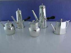 5 Rare Sterling Pepper Pots Saunders And Shepherd Chester C1894-1901 Teapots Set