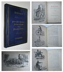 1869 The Velocipede Bicycle Its History Bicycling Bikes Biking Very Rare Book