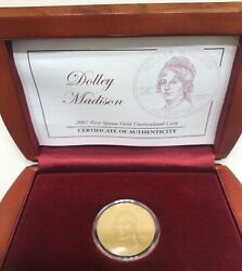 2007 First Spouse Dolley Madison 1/2 Ounce 24k Gold Uncirculated Coin In Case