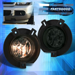 For 02-05 Ford Explorer U152 Replacement Smoked Bumper Fog Lights Lamps + Bulbs