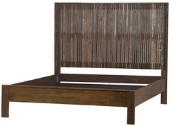 81 King Bed Distressed Paint Headboard Reclaimed Solid Wood Modern