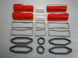 1962 Buick Wildcat Electra 225 Tail Light Lenses And Back Up Lenses And Gaskets 62